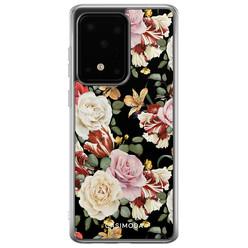 Casimoda Samsung Galaxy S20 Ultra siliconen hoesje - Flowerpower