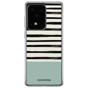 Casimoda Samsung Galaxy S20 Ultra siliconen hoesje - Stripes on stripes