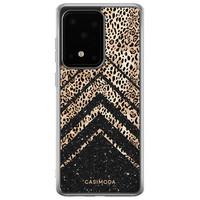 Casimoda Samsung Galaxy S20 Ultra siliconen hoesje - Chevron luipaard