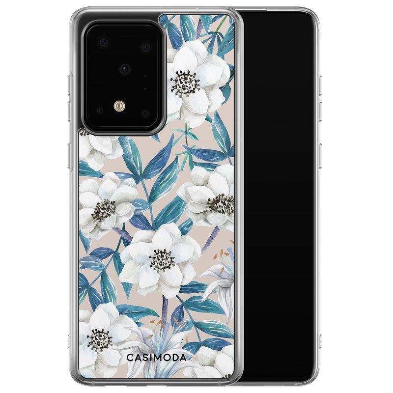 Casimoda Samsung Galaxy S20 Ultra siliconen telefoonhoesje - Touch of flowers