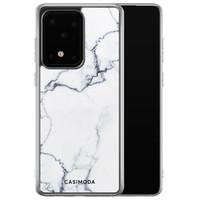 Casimoda Samsung Galaxy S20 Ultra siliconen hoesje - Marmer grijs