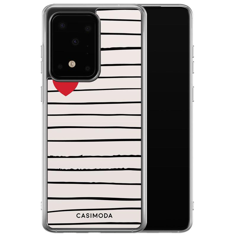 Casimoda Samsung Galaxy S20 Ultra siliconen hoesje - Heart queen