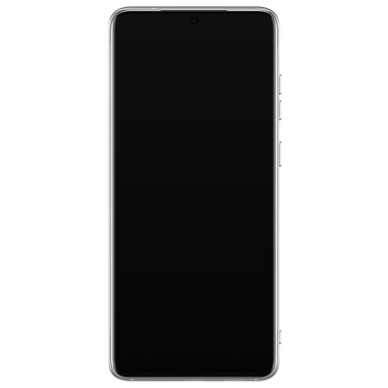 Casimoda Samsung Galaxy S20 Ultra siliconen telefoonhoesje - Palm leaves silhouette