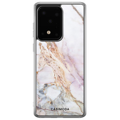 Casimoda Samsung Galaxy S20 Ultra siliconen hoesje - Parelmoer marmer