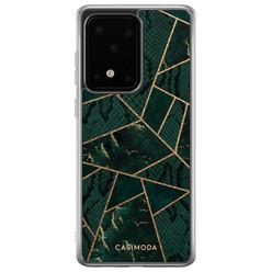Casimoda Samsung Galaxy S20 Ultra siliconen hoesje - Abstract groen