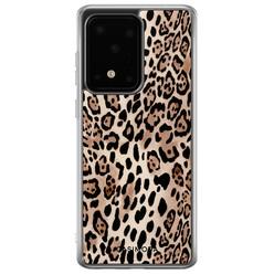 Casimoda Samsung Galaxy S20 Ultra siliconen hoesje - Golden wildcat