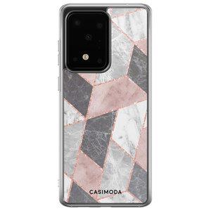 Casimoda Samsung Galaxy S20 Ultra siliconen hoesje - Stone grid