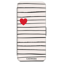 Casimoda Samsung Galaxy A70 flipcase hoesje - Heart stripes