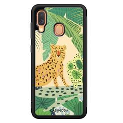 Casimoda Samsung Galaxy A40 hoesje - Jungle luipaard