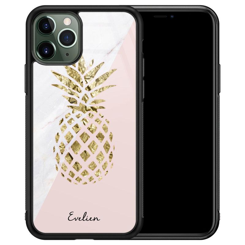 iPhone 11 Pro glazen hoesje ontwerpen - Ananas