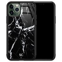 iPhone 11 Pro glazen hoesje ontwerpen - Marmer zwart