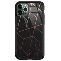 iPhone 11 Pro glazen hoesje ontwerpen - Marble grid