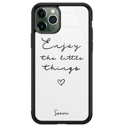 iPhone 11 Pro glazen hoesje ontwerpen - Enjoy life