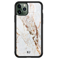 iPhone 11 Pro glazen hoesje ontwerpen - Marmer goud