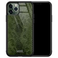 iPhone 11 Pro glazen hoesje ontwerpen - Snake mix