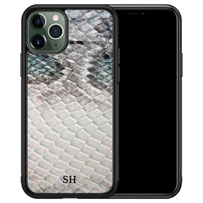 iPhone 11 Pro glazen hoesje ontwerpen - Smooth snake