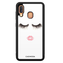 Casimoda Samsung Galaxy A40 hoesje - Kiss wink