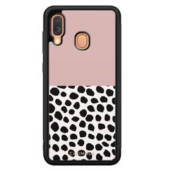Casimoda Samsung Galaxy A40 hoesje - Pink dots