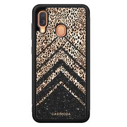 Casimoda Samsung Galaxy A40 hoesje - Chevron luipaard