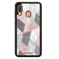 Casimoda Samsung Galaxy A40 hoesje - Stone grid
