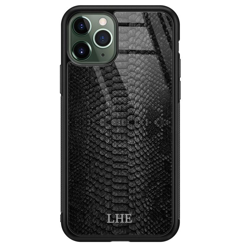 iPhone 11 Pro Max glazen hoesje ontwerpen - Black snake