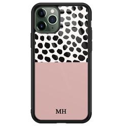 iPhone 11 Pro Max glazen hoesje ontwerpen - Pink dots