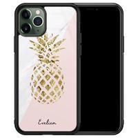 iPhone 11 Pro Max glazen hoesje ontwerpen - Ananas