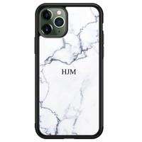 iPhone 11 Pro Max glazen hoesje ontwerpen - Marmer grijs