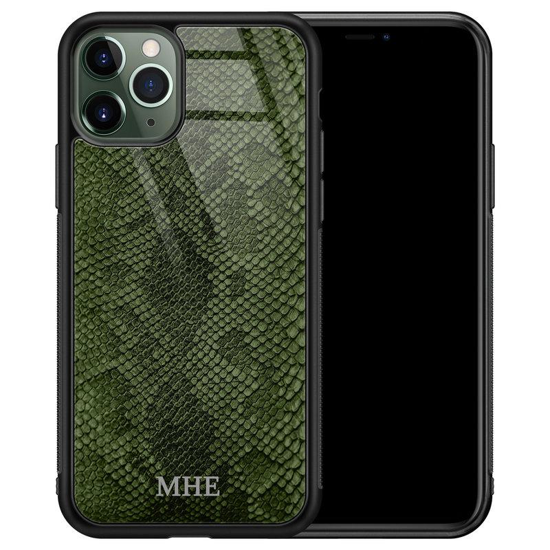 iPhone 11 Pro Max glazen hoesje ontwerpen - Snake mix