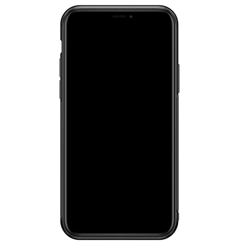 iPhone 11 Pro Max glazen hoesje ontwerpen - Marmer blauw goud