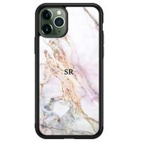 iPhone 11 Pro Max glazen hoesje ontwerpen - Parelmoer marmer