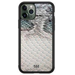 iPhone 11 Pro Max glazen hoesje ontwerpen - Smooth snake