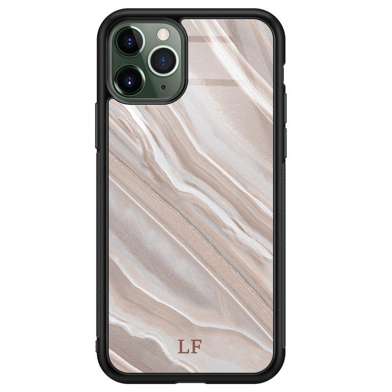 iPhone 11 Pro Max glazen hoesje ontwerpen - Marble agate