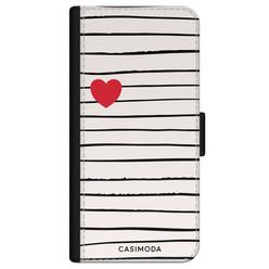 Casimoda iPhone 11 flipcase hoesje - Heart stripes
