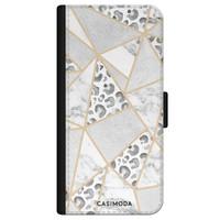 Casimoda iPhone 11 flipcase - Stone & leopard