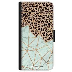 Casimoda iPhone 11 Pro flipcase - Luipaard marmer mint
