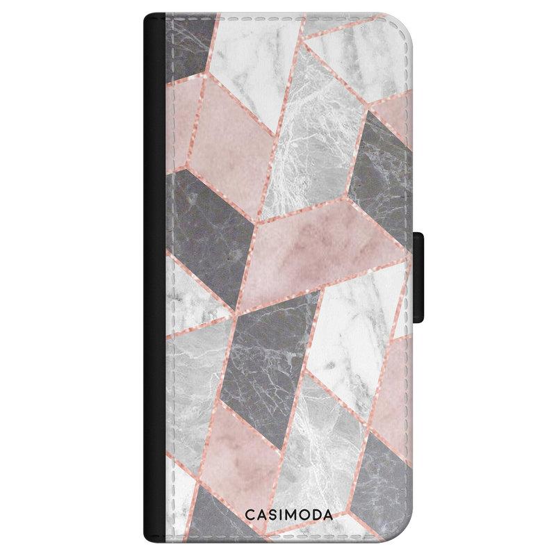 Casimoda iPhone 11 Pro flipcase - Stone grid
