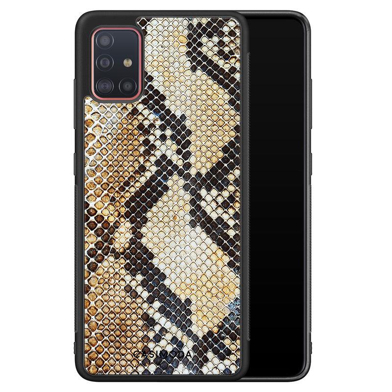 Casimoda Samsung Galaxy A51 hoesje - Golden snake
