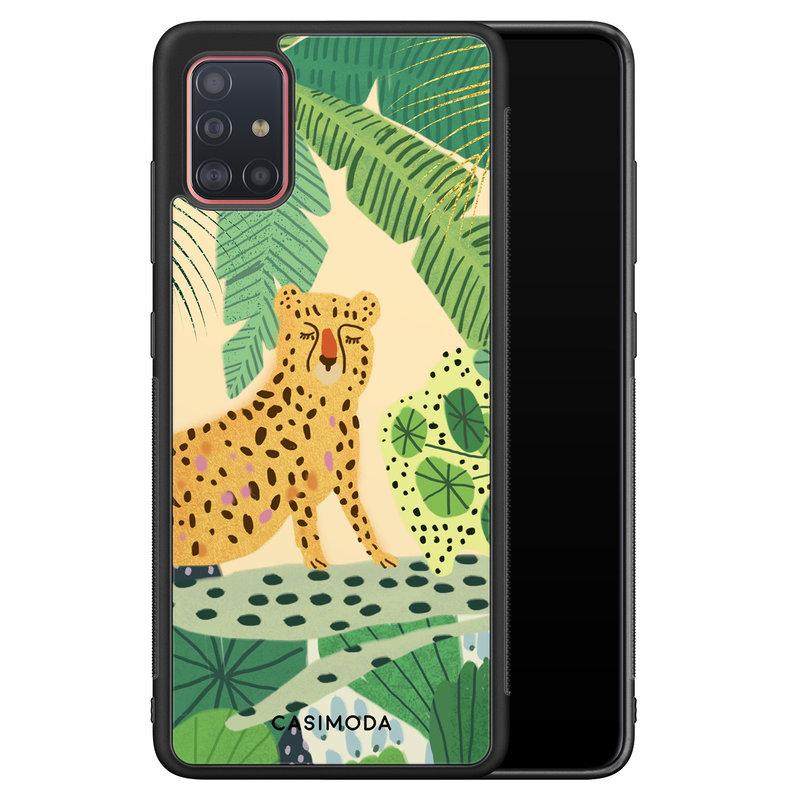 Casimoda Samsung Galaxy A51 hoesje - Jungle luipaard
