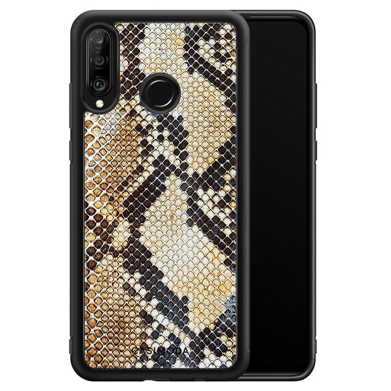 Casimoda Huawei P30 Lite hoesje - Golden snake