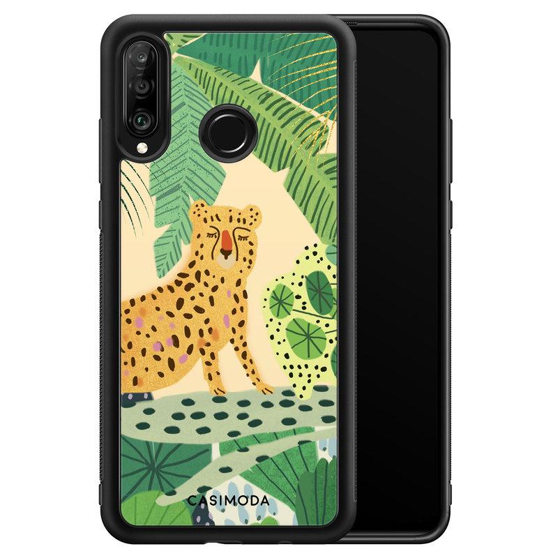 Casimoda Huawei P30 Lite hoesje - Jungle luipaard