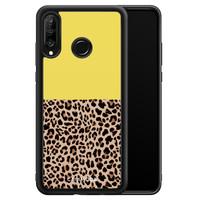 Casimoda Huawei P30 Lite hoesje - Luipaard geel