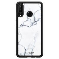 Casimoda Huawei P30 Lite hoesje - Marmer grijs