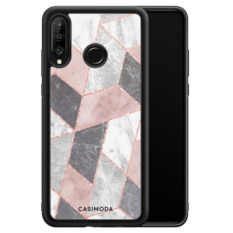 Casimoda Huawei P30 Lite hoesje - Stone grid