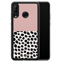 Casimoda Huawei P30 Lite hoesje - Pink dots