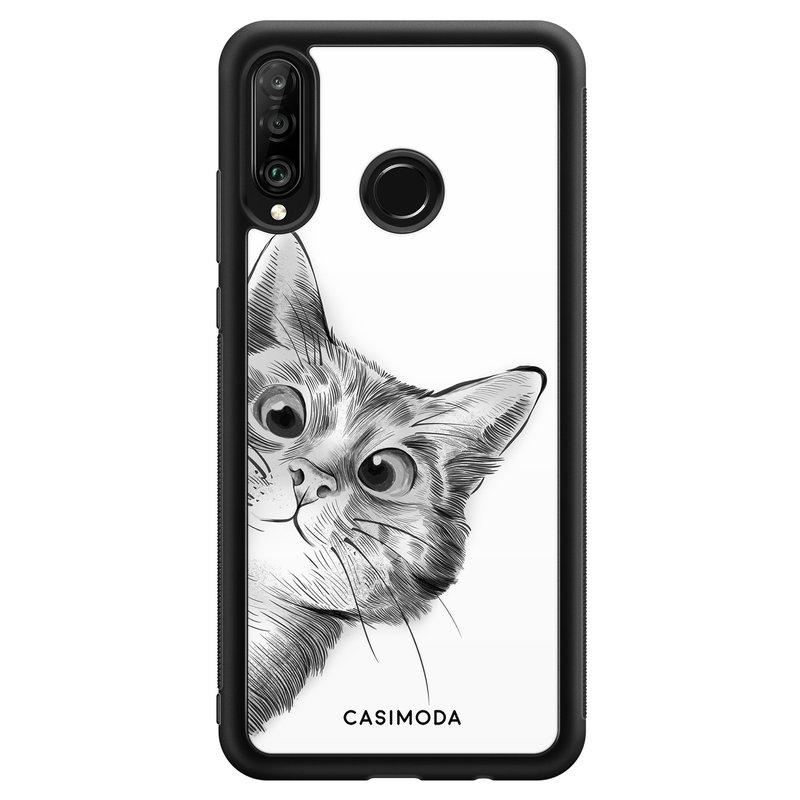 Casimoda Huawei P30 Lite hoesje - Peekaboo