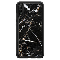 Casimoda Huawei P30 Lite hoesje - Marmer zwart