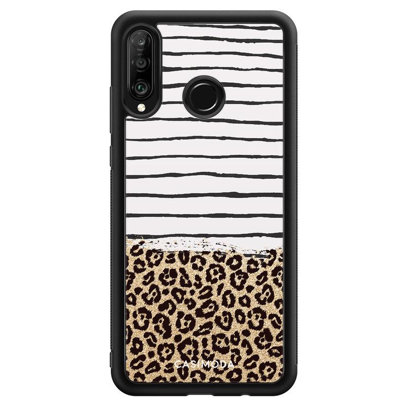 Casimoda Huawei P30 Lite hoesje - Leopard lines