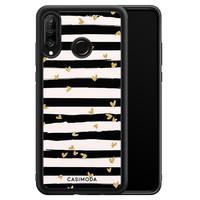 Casimoda Huawei P30 Lite hoesje - Hart streepjes