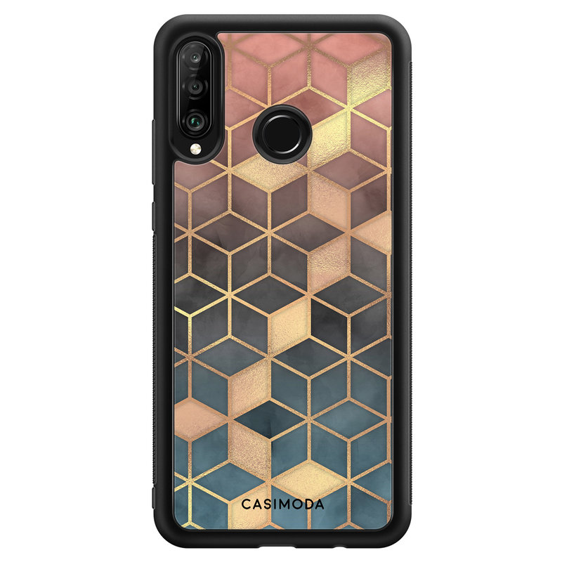 Casimoda Huawei P30 Lite hoesje - Cubes art